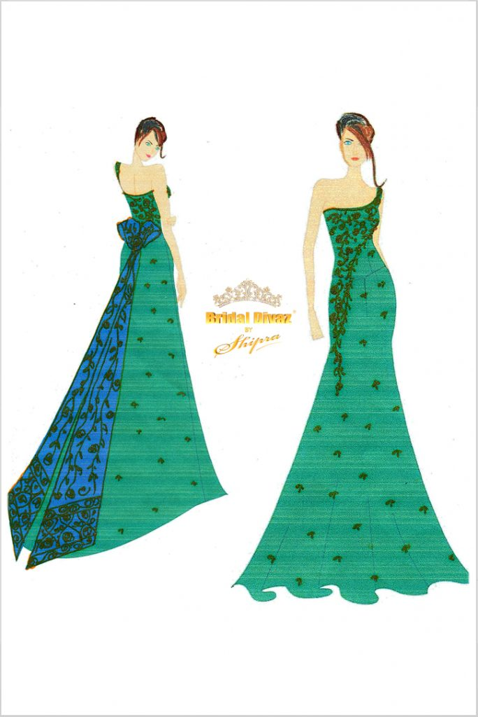 Haute Couture High End Evening Gown by BRIDAL DIVAZ ® by SHIPRA