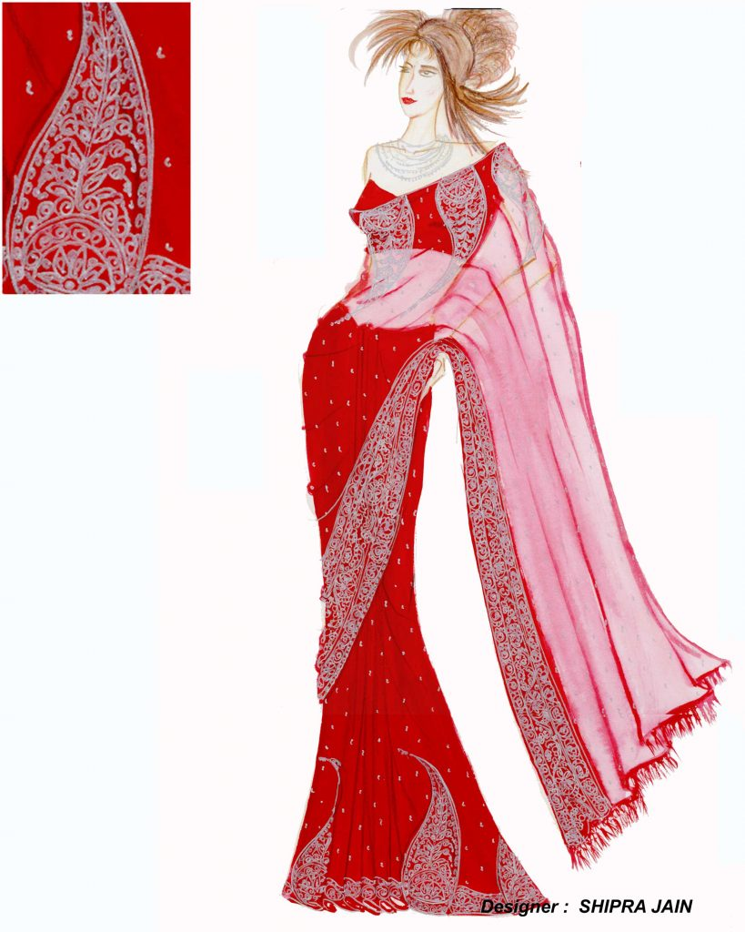 BRIDAL SAREE BY DESIGNER SHIPRA