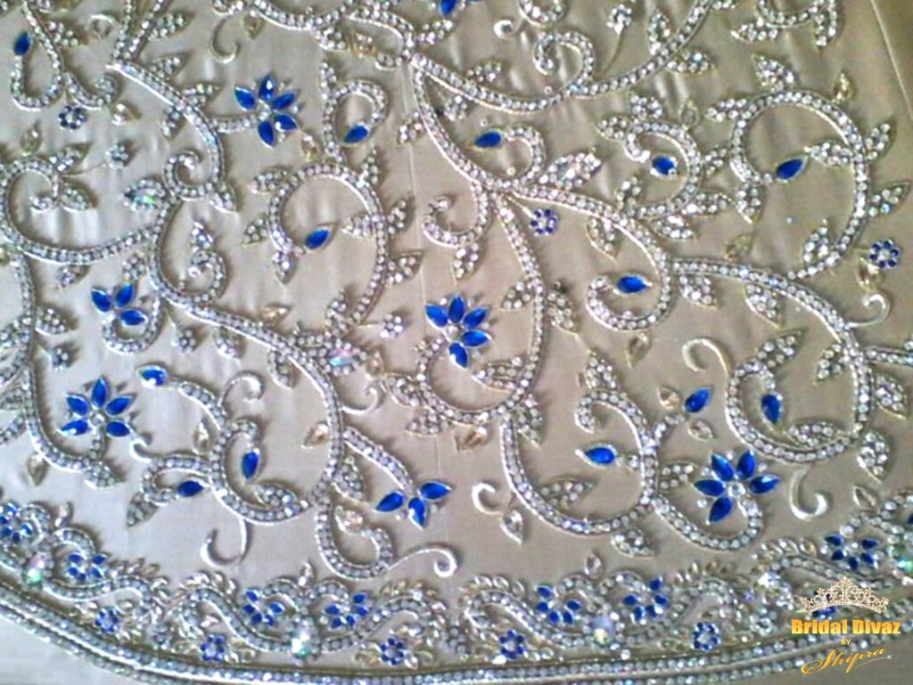 Hand embroided, haute couture fusion wedding gowns, lehengas, saris by BRIDAL DIVAZ ® by SHIPRA